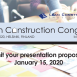 Call for Presentations: Lean Construction Congress 2020